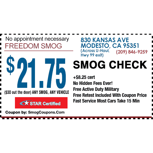 Smog check coupons near me