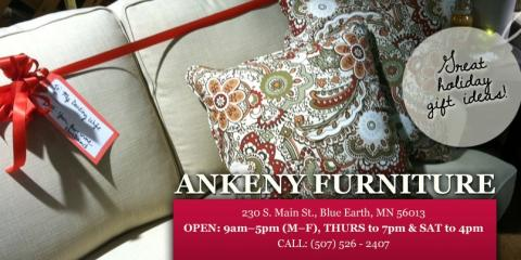 Visit Ankeny Furniture At The South Main Street Location, Call Them At  (507) 526 2407 Or Contact Them Online For More Information.