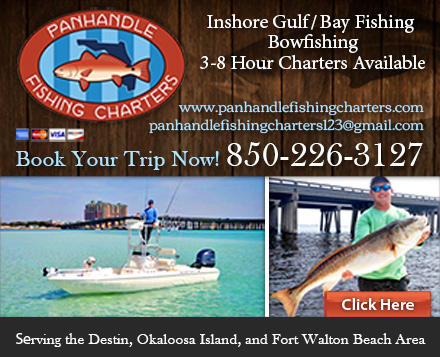 Panhandle fishing charters coupons near me in fort walton for Fishing tours near me