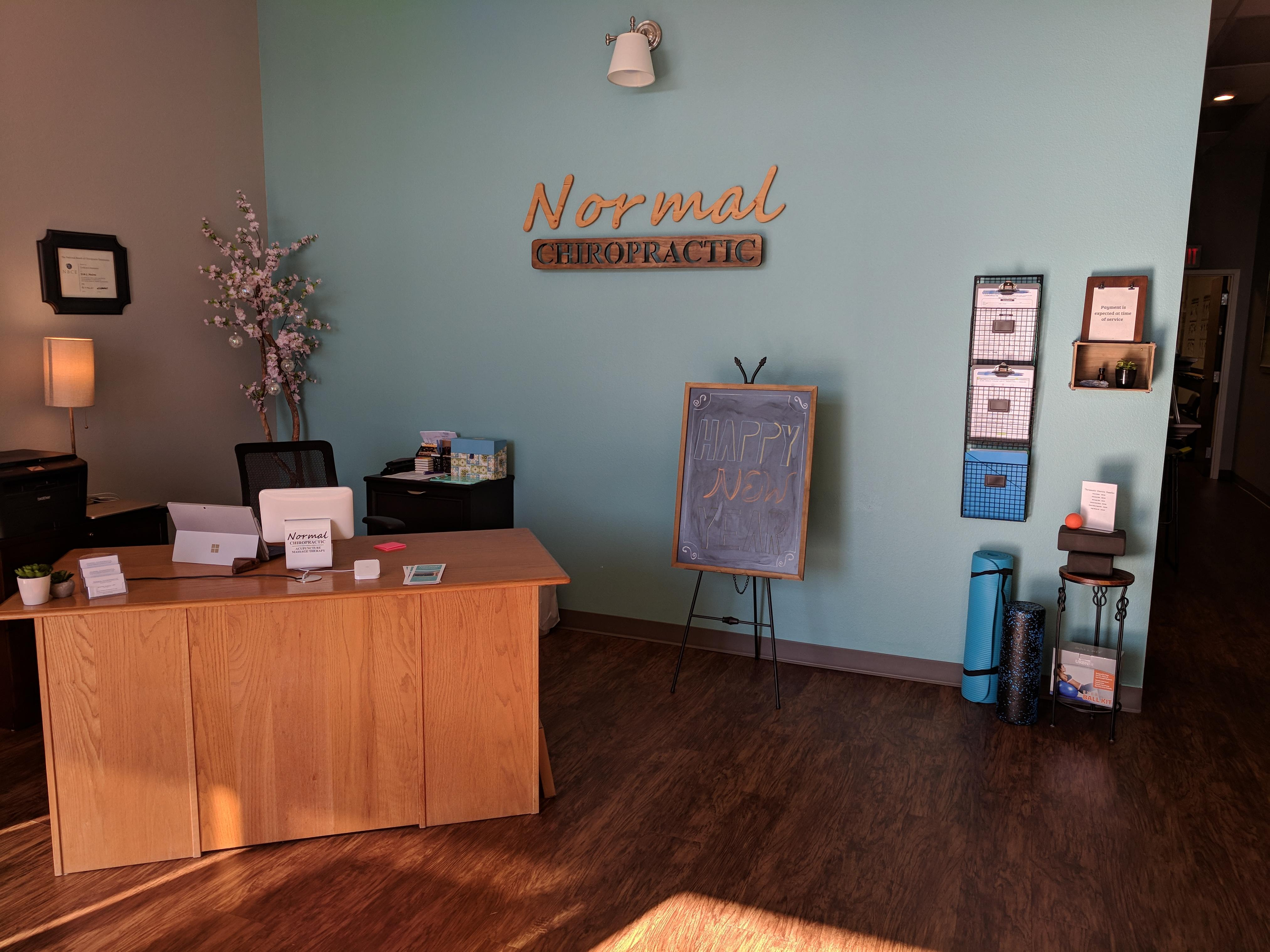 Front Desk at Normal Chiropractic