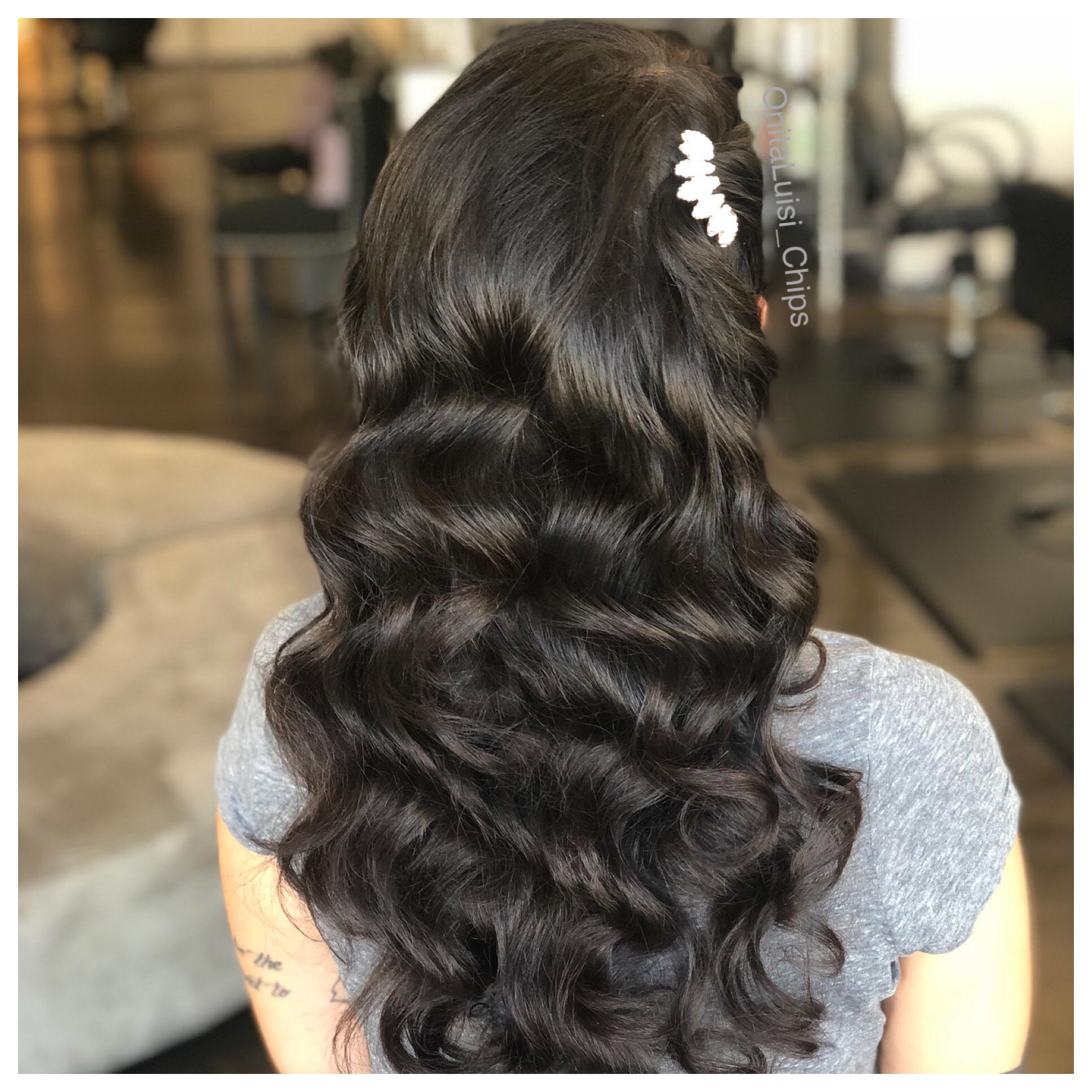 Ready for Prom, with beautiful waves