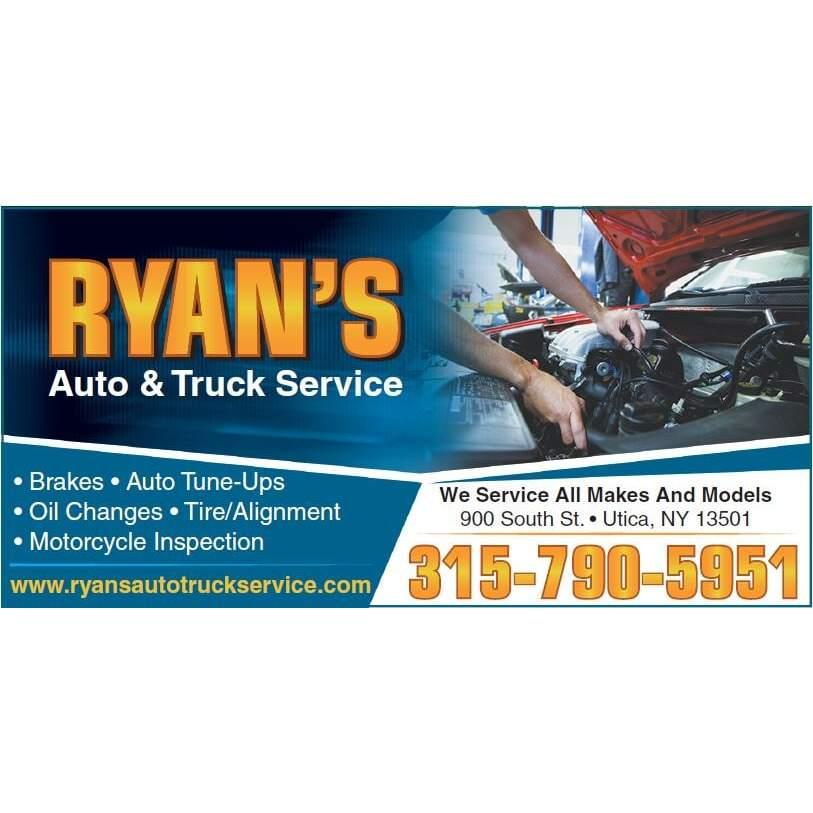 Ryan's Auto & Truck Service - Utica, NY - General Auto Repair & Service