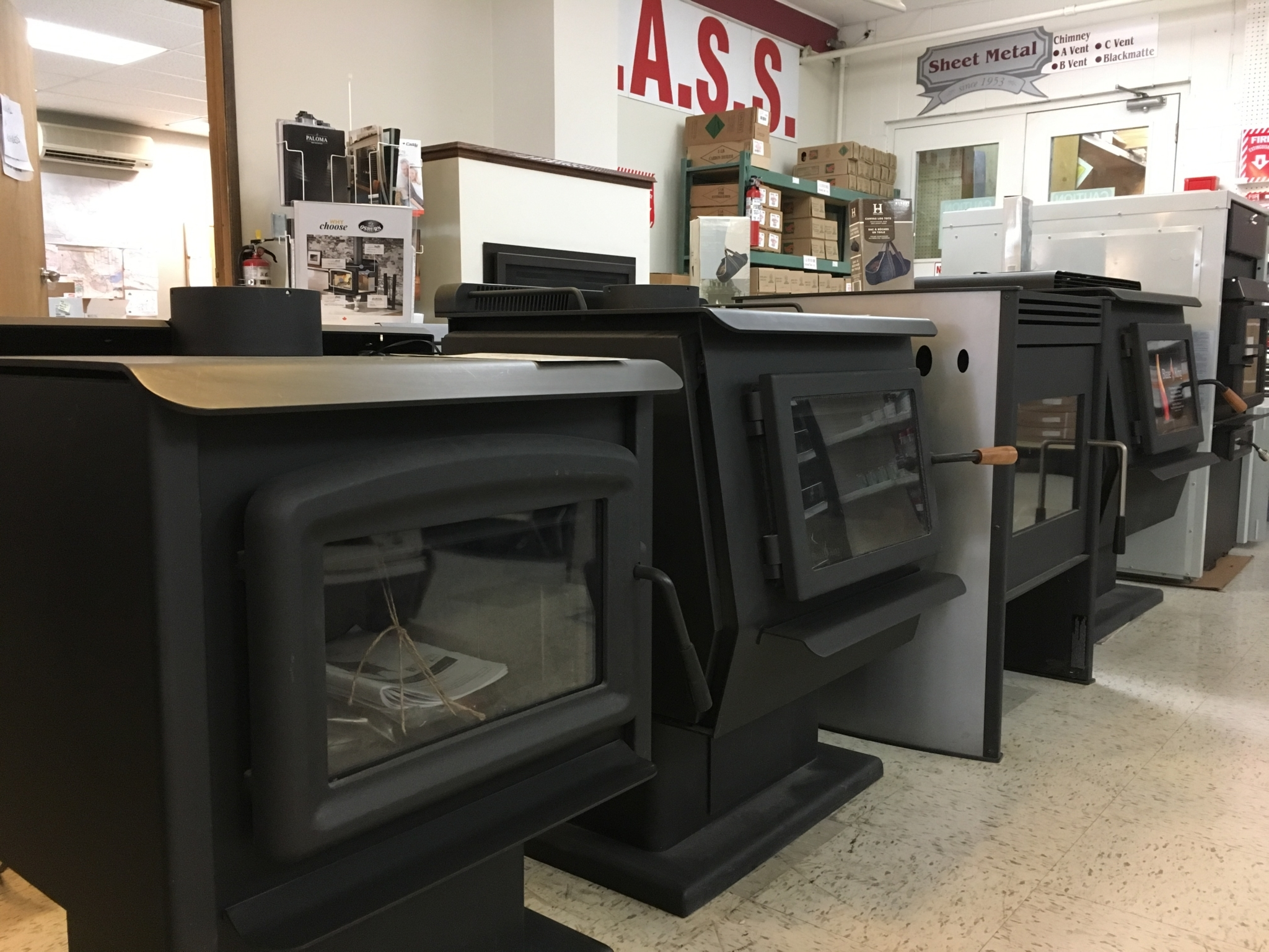 Burgess Plumbing Heating & Electrical Co Ltd in Williams Lake: wood stove selections