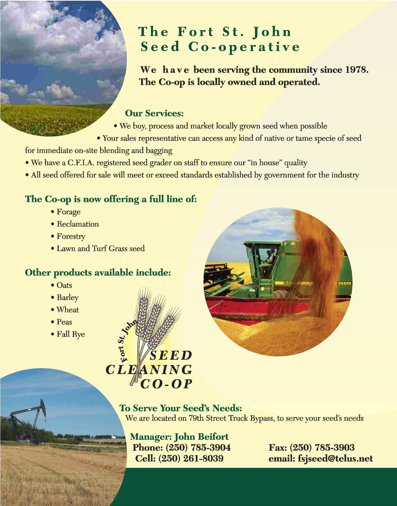 Fort St John Seed Cleaning Co-Op in Fort St John