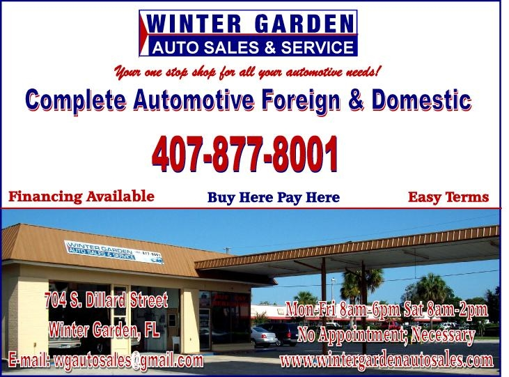 Winter Garden Auto Sales Service 704 S Dillard St Winter Garden Fl Auto Dealers Used Cars