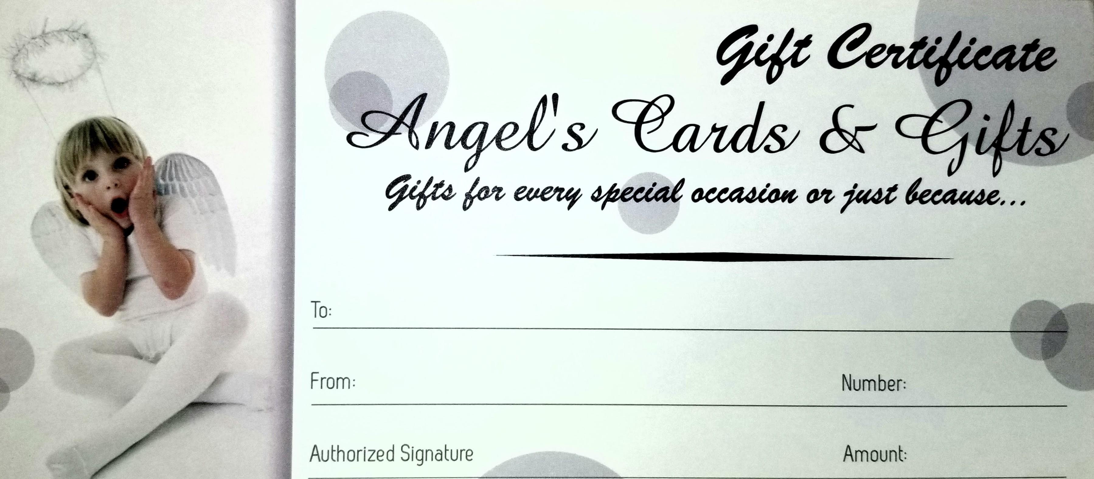 Angel's Gift Certificates