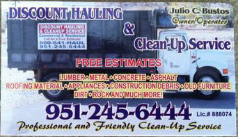 Discount Hauling and Cleanup Service