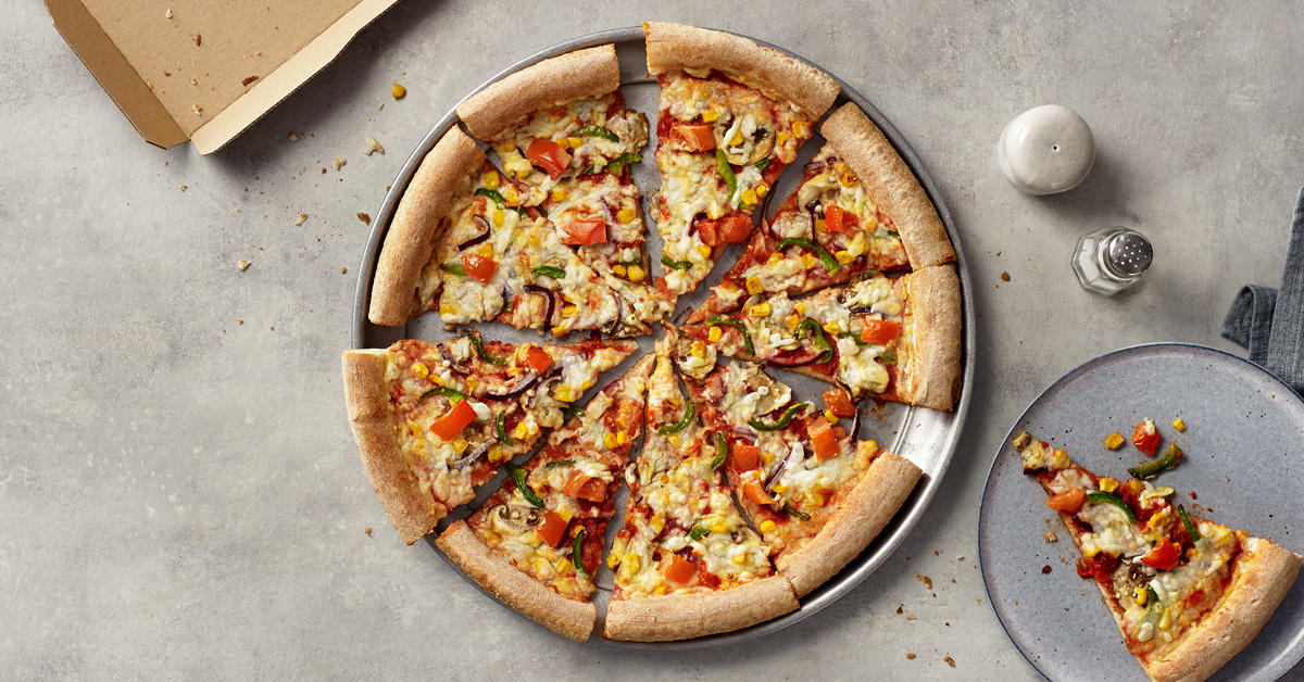 Papa John's Vegan Sheese® Garden Party Papa John's Pizza Burnley 01282 430033