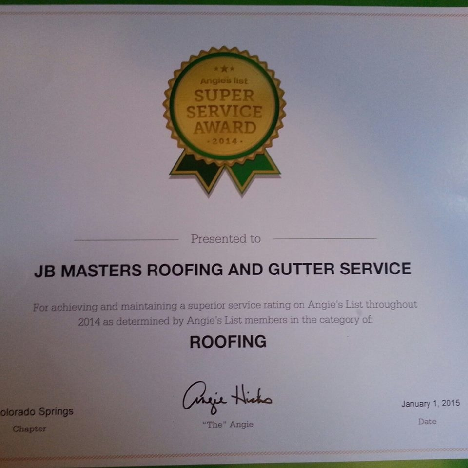 Jb Masters Roofing And Gutters In Colorado Springs Co