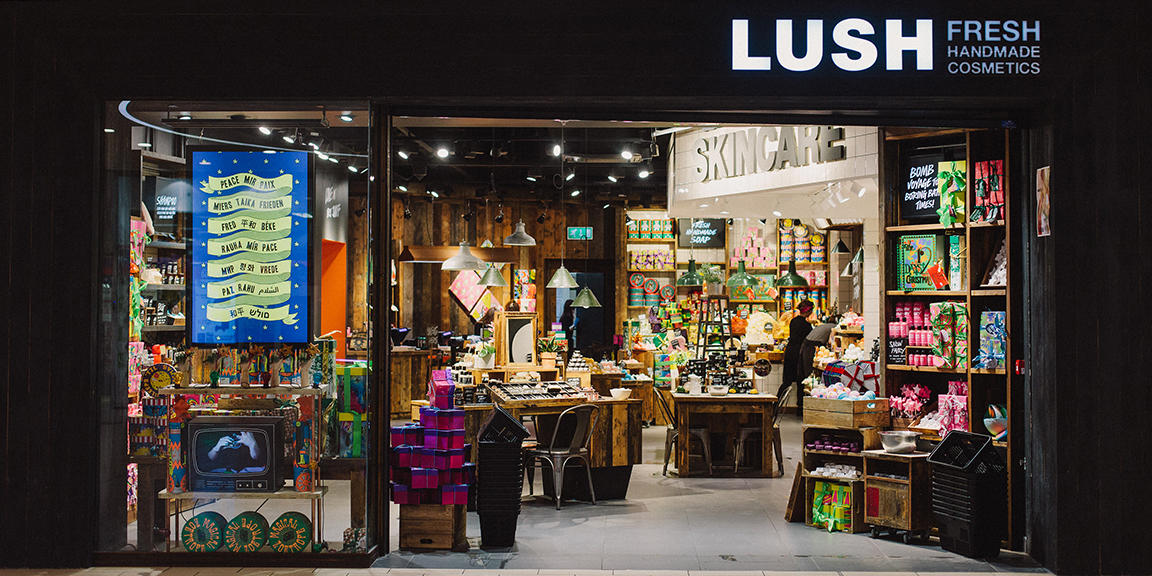 Lakeside shop front