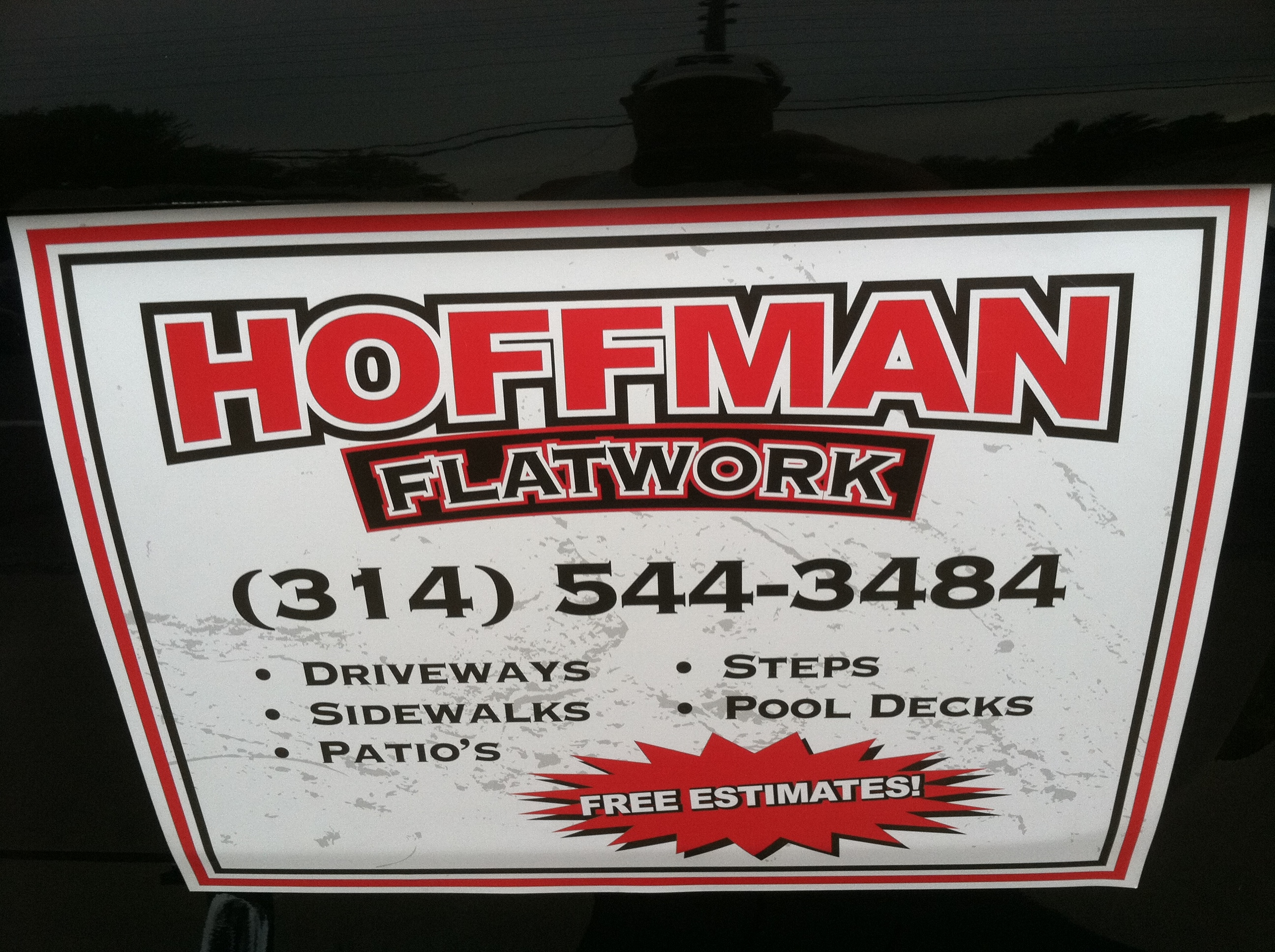 Concrete Contractor in MO St. Louis 63123 Hoffman Concrete LLC 9411 Mackenzie Rd  (314)544-3484