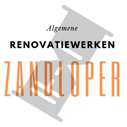 Renovatiewerken Zandloper Logo