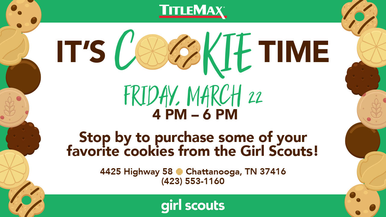 Girl Scout Cookie Time at TitleMax Chattanooga Hwy 58
