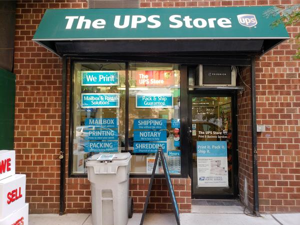 Exterior storefront image of The UPS Store #5777 located in the Upper East Side, NY.