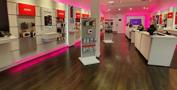 Interior photo of T-Mobile Store at Oakwood Mall 3, Eau Claire, WI