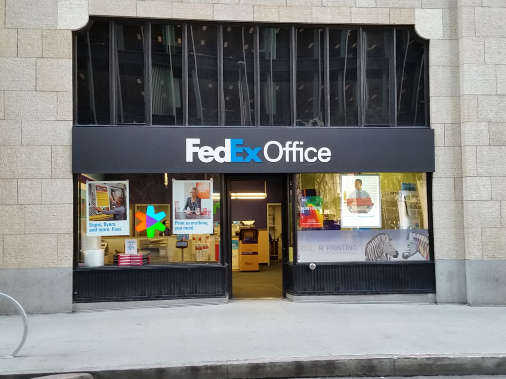 Fedex office print ship center san francisco california for Fedex color printing per page