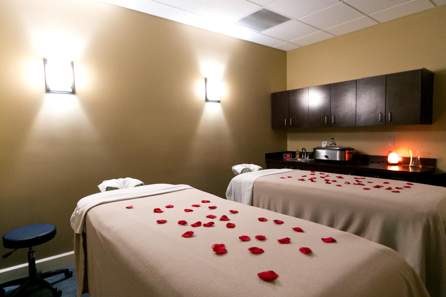 Kick back and escape with a friend or loved one with our Couple's Massage.  Two people can enjoy their massage experience together, side by side, in our Couple's room.  A perfect way to enjoy some quality time together. This room is ideally suited for special occasions, such as Anniversaries, Birthdays and Valentine's Day!