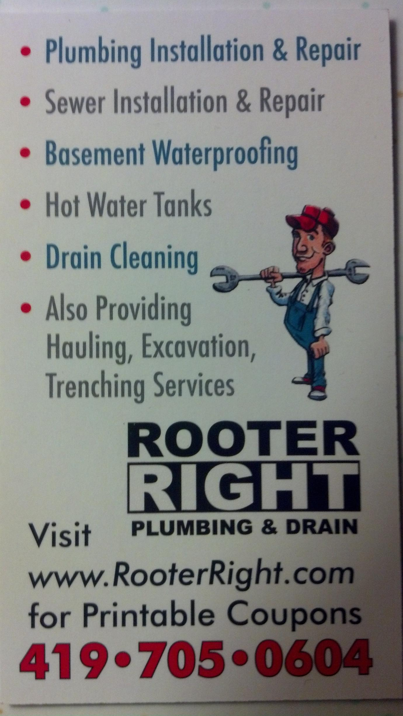 Rooter Right Plumbing and Drain